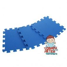 Мягкий пол, Коврик-пазл синего цвета