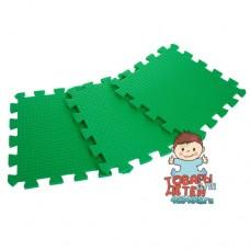 Мягкий пол / Коврик-пазл зеленого цвета