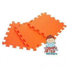 Мягкий пол / Коврик-пазл оранжевого цвета